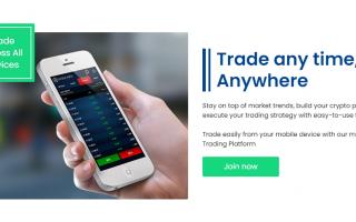 Winiford mobile trading capabilities
